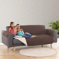 Easymaxx Sofaüberzug Couch Coat 3-sitzer 180x290cm Braun/beige