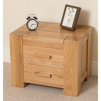 Kuba Solid Oak 2 Drawer Bedside Table