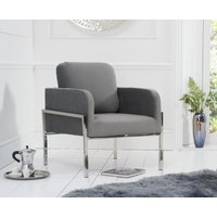 Read more about Bennett grey velvet accent chair