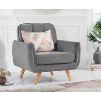 Read more about Camila grey velvet armchair
