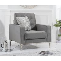 Read more about Lydia grey velvet armchair