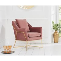 Read more about London blush velvet accent chair