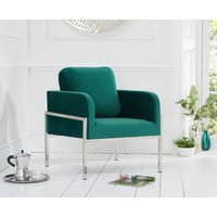 Read more about Bennett green velvet accent chair