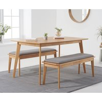 Sacha 150cm Dining Table with Sacha Cushion Seat Benches