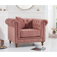 Read more about Milano chesterfield blush plush armchair