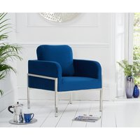 Read more about Bennett blue velvet accent chair