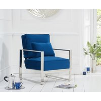 Read more about Sloane blue velvet accent chair