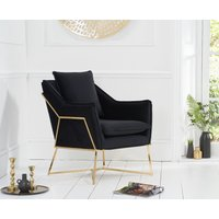 Read more about London black velvet accent chair