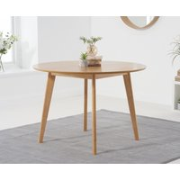 Product photograph showing Ex-display Sacha Oak 110cm Round Dining Table