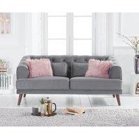 Delilah Grey Velvet 2 Seater Sofa