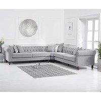 Product photograph showing Ex-display Limoges Grey Linen Corner Sofa
