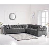 Blake Grey Velvet Corner Sofa