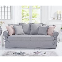 Read more about Clement grey linen 3 seater sofa