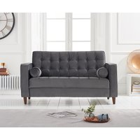 Product photograph showing Rhine Grey Velvet 2 Seater Sofa