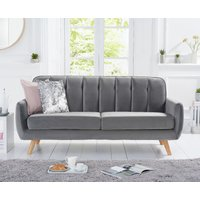 Read more about Camila grey velvet 3 seater sofa