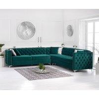 Mistral Green Velvet Corner Sofa