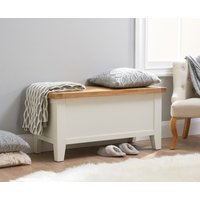 Product photograph showing Eden Oak And White Blanket Box