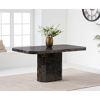 Product photograph showing Ex-display Belle 160cm Marble Brown Dining Table
