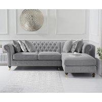 Flora Medium Grey Linen Right Facing Chaise Sofa