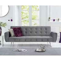 Product photograph showing Ex-display Vanessa Sofa Bed In Grey Velvet