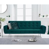 Vanessa Sofa Bed in Green Velvet