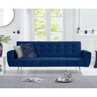 Vanessa Sofa Bed in Blue Velvet