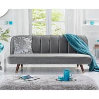 Product photograph showing Ex-display Julietta Sofa Bed In Grey Velvet