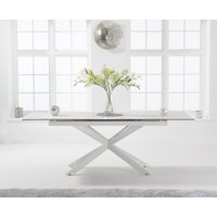 Boston 180cm Extending White Ceramic Dining Table with White Leg