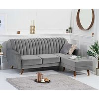 Product photograph showing Ex-display Lucia Sofa Bed In Grey Velvet