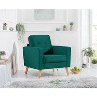 Product photograph showing Chandler Green Velvet Armchair
