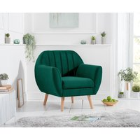 Product photograph showing Latimer Green Velvet Armchair