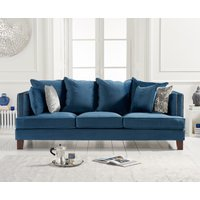 Product photograph showing Constantine Blue Velvet 3 Seater Sofa