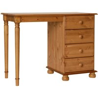 Product photograph showing Denmark Single Dressing Table In Pine