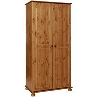 Product photograph showing Denmark 2 Door Wardrobe In Pine