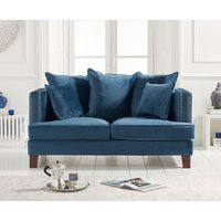 Product photograph showing Constantine Blue Velvet 2 Seater Sofa
