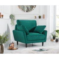 Product photograph showing Casa Green Velvet Armchair