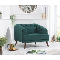 Product photograph showing Delilah Green Velvet Armchair