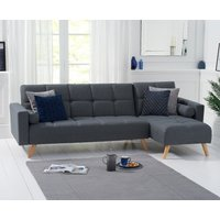 Ana Sofa Bed Right Facing Chaise in Grey Linen