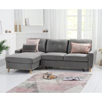 Ex-display Constance Double Sofa Bed Left Facing Chaise in Grey Velvet