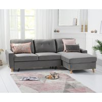Constance Double Sofa Bed Right Facing Chaise in Grey Velvet