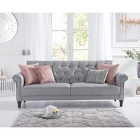 Orlando Grey Linen 3 Seater Fold Down Sofa Bed