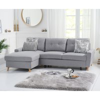 Constance Double Sofa Bed Left Facing Chaise in Grey Linen