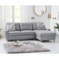 Constance Double Sofa Bed Right Facing Chaise in Grey Linen