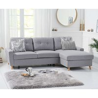 Product photograph showing Ex-display Constance Double Sofa Bed Right Facing Chaise In Grey Linen