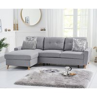 Ex-display Constance Double Sofa Bed Left Facing Chaise in Grey Linen