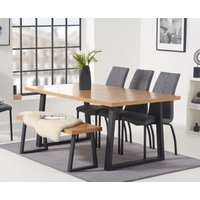 Urban 180cm Dining Table with Noir Antique Dining Chairs and Urban Bench