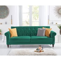 Orlando Green Velvet Sofa Bed