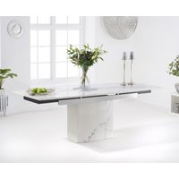 Metropolis 160cm White Extending Marble Dining Table