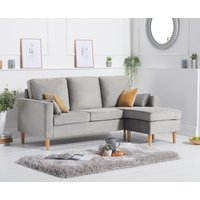 Product photograph showing Ex-display Westminster Grey Velvet 3 Seater Reversible Corner Chaise Sofa