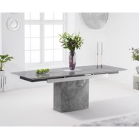 Metropolis 160cm Grey Extending Marble Dining Table